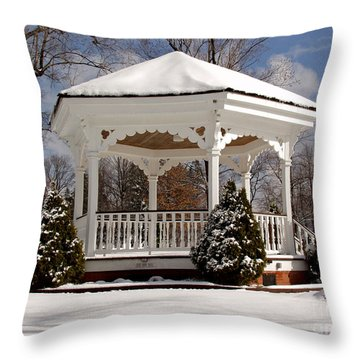 Gazebo At Olmsted Falls - 2 Throw Pillow