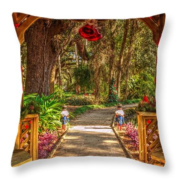 Throw Pillow featuring the photograph Gazebo Bells by Tyson Kinnison
