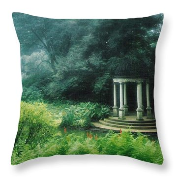 Gazebo Longwood Gardens Throw Pillow