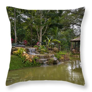 Gazebo View Good Hope Estate Jamaica Throw Pillow
