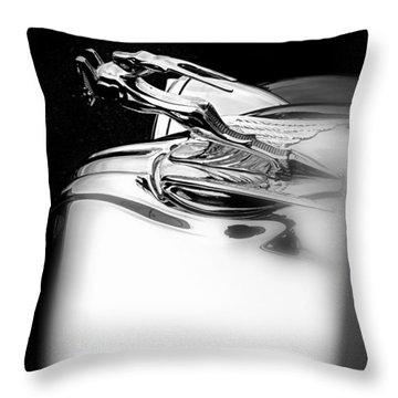 Gazelle Hood Ornament Throw Pillow by Nick Kloepping