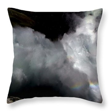 Gazing Down Into The Heart Of Nevada Falls Throw Pillow