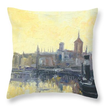 Gdansk Harbour - Poland Throw Pillow
