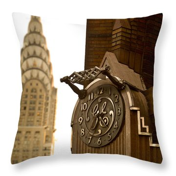 General Electric Building 1 Throw Pillow