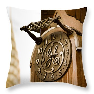 General Electric Building 2 Throw Pillow