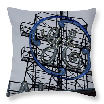 Ge Sign - Fort Wayne Throw Pillow