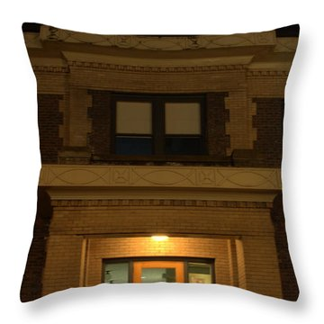 Geaorgetown Clock Tower Throw Pillow