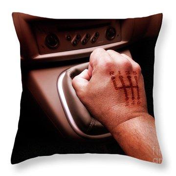 Gear Burn Throw Pillow by Carlos Caetano