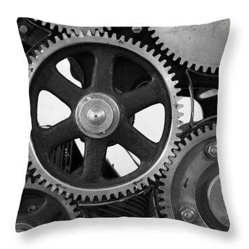 Gear Drive Throw Pillow