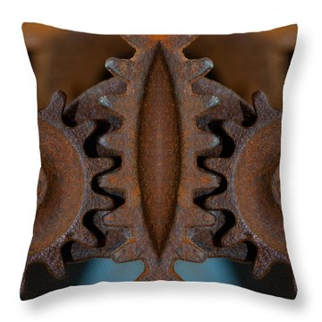 Gearing Up Throw Pillow by WB Johnston