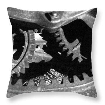 Gears Dark Throw Pillow