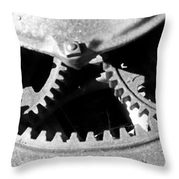 Gears Light Throw Pillow by Tarey Potter