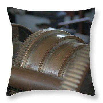 Gears Of Progress Throw Pillow
