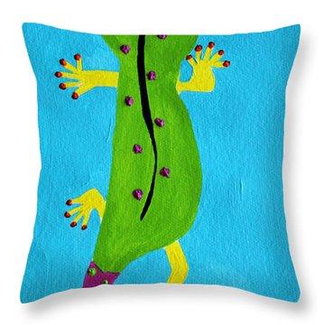 Gecko Gecko Throw Pillow