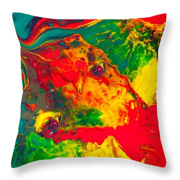 Gecko - Colorful Abstract Painting Throw Pillow by Modern Art Prints