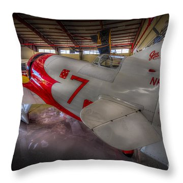 Gee Bee Super Sportster Throw Pillow