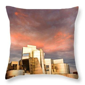 Gehry Rainbow Throw Pillow by Joe Mamer