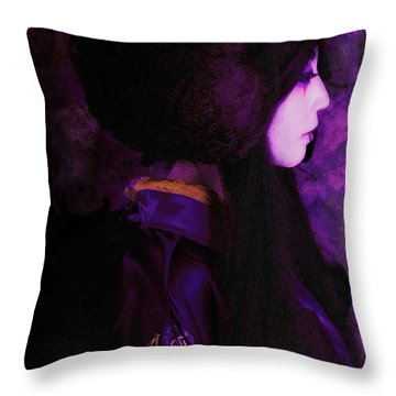 Geisha In Purple And Pink Throw Pillow