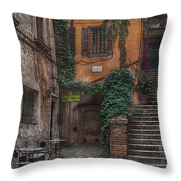 Gelateria Del Teatro Throw Pillow by Hanny Heim
