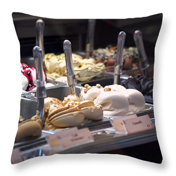 Throw Pillow featuring the photograph Gelato by Rona Black