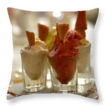 Gelato At Manducati's Rustica Throw Pillow by Steve Archbold