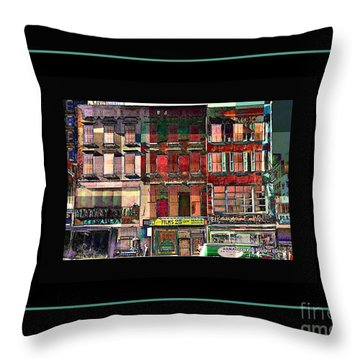 Gem Collection - New York In 1975 - Print Or Card Throw Pillow by Miriam Danar