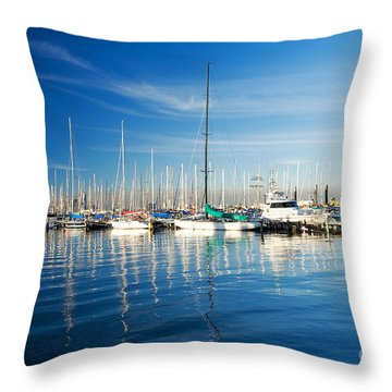 Gem Pier Of Williamstown Throw Pillow by Yew Kwang
