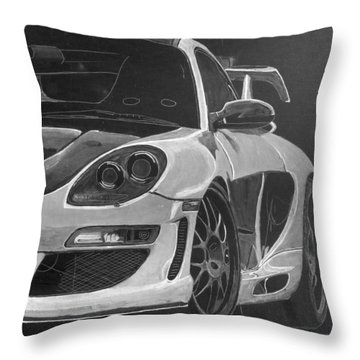 Throw Pillow featuring the painting Gemballa Porsche Left by Richard Le Page