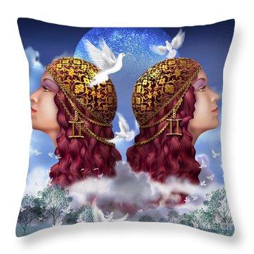 Gemini Throw Pillow by Ciro Marchetti