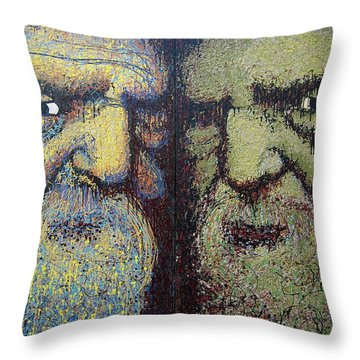 Gemini Throw Pillow by Kate Tesch