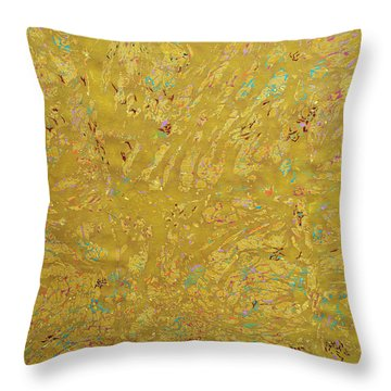 Gems And Sand Throw Pillow