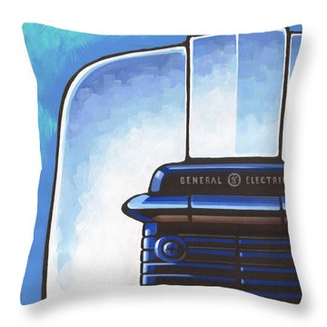 General Electric Toaster - Blue Throw Pillow