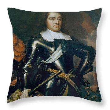 General George Monk 1st Duke Throw Pillow by Samuel Cooper
