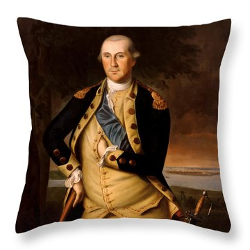 General George Washington  Throw Pillow by War Is Hell Store