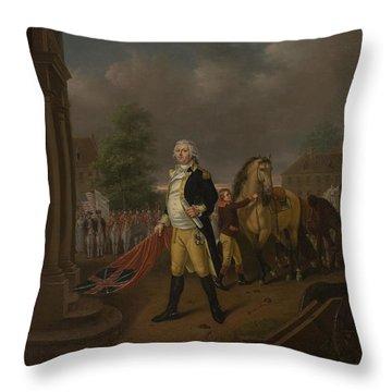 General Humphreys Delivering Throw Pillow by Nicolas Louis Albert Delerive