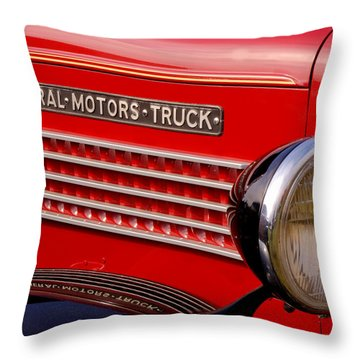 General Motors Truck Throw Pillow by Thomas Young