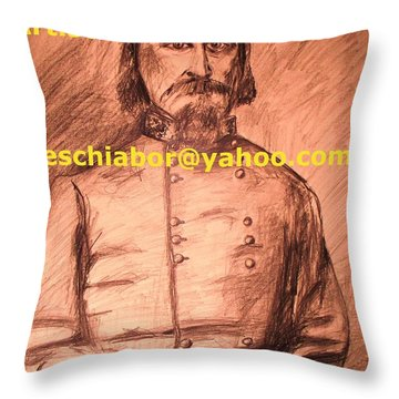 General Pickett Confederate  Throw Pillow by Eric  Schiabor