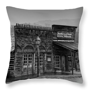 General Store Virginia City Montana Throw Pillow by Thomas Woolworth