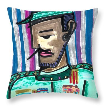 Generalissimo Diego  Throw Pillow