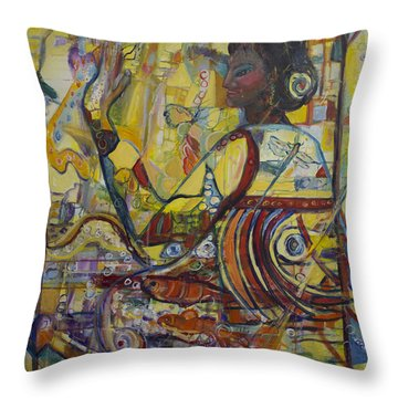 Genes Throw Pillow by Avonelle Kelsey