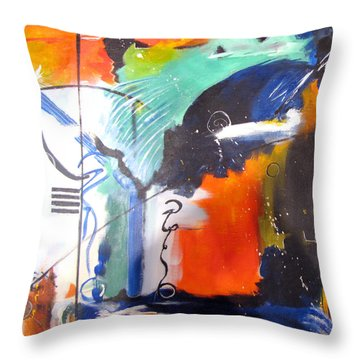 Genesis 1 Vs. 2 God Throw Pillow by Gary Smith