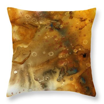 Genesis In Citrine Throw Pillow