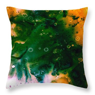 Genesis In Emerald Throw Pillow