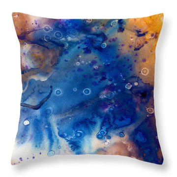 Genesis In Sapphire Throw Pillow