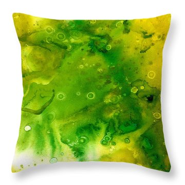 Genesis In Tourmaline Throw Pillow