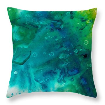 Genesis In Turquoise Throw Pillow