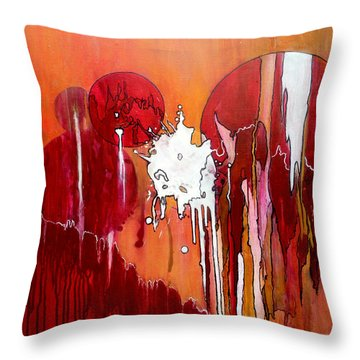 Genesis - Love At First Sight Throw Pillow by Jim Whalen