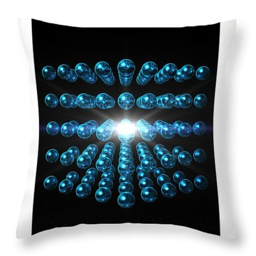 Throw Pillow featuring the digital art Genesis... by Tim Fillingim