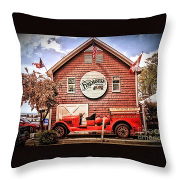 Geneva On The Lake Firehouse Throw Pillow