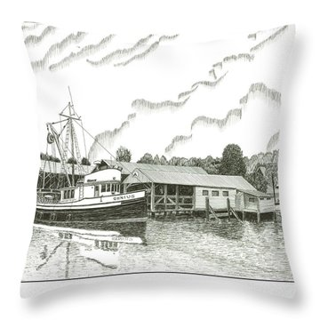 Genius Ready To Fish Gig Harbor Throw Pillow by Jack Pumphrey